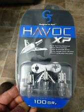 G5 Havoc XP 2 Blade 100 Gr Expandable Broadhead 3 pack #937