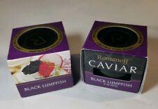 2 X Romanoff Caviar Black Lumpfish, 2 oz Jars. New Factory Sealed Exp 11/20