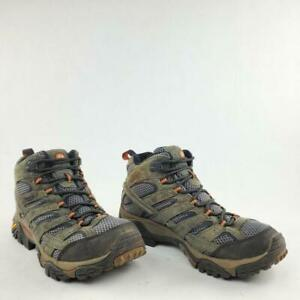 Merrell Beluga Moab 2 Men Brown Suede Lace Up Hiking Ankle Boots Shoe Size 9.5