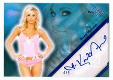 "KARA MONACO ""BLUE AUTOGRAPH CARD #4/5"" BENCHWARMER LIMITED 2011"