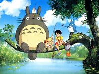 PRINT POSTER ANIME MY NEIGHBOR TOTORO ANIMATION STUDIO GHIBLI FISHING NOFL0021