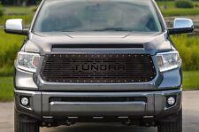 Custom TUNDRA Grille for 14-16 Tundra Aftermarket Steel Grill Black w/ SS Rivets