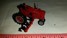 1/64 ERTL custom ih farmall m nf tractor w/ mtd row crop cultivator farm toy