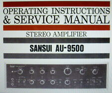 SANSUI AU-9500 Stéréo AMP operating instructions et service manual Anglais