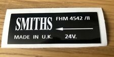 MILITARY Land Rover Series 2 2a 88 109 LIGHTWEIGHT Smiths Heater Decal Badge 24v