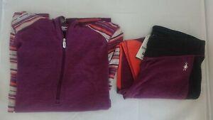 $245 M NEW Smartwool Merino Wool 250 Base Layer SET Hoodie Top & Bottom SANGRIA