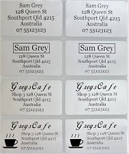 56 Silver Personalised Name / Address Label Stickers- XL (45*25mm) Dishwasher