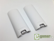 2x Nintendo Wii White Battery Cover Case Back for Remote Controller E-Gamer