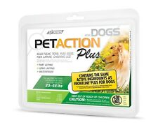 PetAction Plus Flea & Tick Drops for Medium Dogs, 23-44 lbs 3 Doses