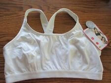 Shock Absorber size 36DD Style B999  white crossback wirefree sports bra top NWT