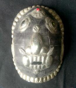 Alt Tibetisch Handgemach Silber Paket Maske Halloween Party Cosplay Kostüm Mask