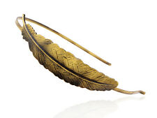 Chic Bronze Metal Tone Single Carved Bird Feather Head Band