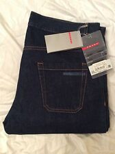 Prada men's indigio straight leg men's jeans brand new with tags w34 leg 36.5