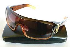 SPY OPTIC HAYMAKER G6 Brown Plastic Rectangular Wrap Sunglasses Made in ITALY