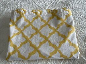 "Pottery Barn Marlo Shower Curtain Yellow Moroccan 72x72"""