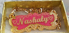Nashaly Handmade Personalized Jewelry Name Necklace 18k Gold plated