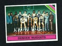 NMT 1975 Topps Basketball #321 Denver Nuggets Team and Checklist.