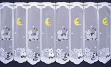 Katzen Scheibengardine 116 cm Bistrogardine Mond Küchengardine Kindergardine