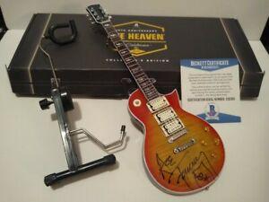 Kiss Ace Frehley Signed Mini Guitar BECKETT COA Axe Heaven BAS