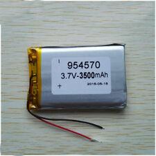 3500mAh 3.7 V  lipo Polymer  Battery MP3 DVD GPS LED Headphone 954570