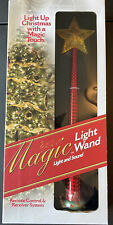 New ListingMagic Light Wand w/ Sound Remote Control Light Up Christmas Tree w/Touch New Red