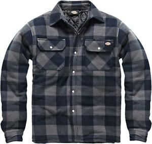 Dickies Holzfällerhemd Portland graublau Polarfleece gefüttert Hemd Jacke