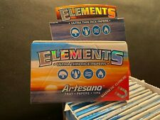 *LOT OF 5 PACKS* Elements Artesano Rice 1 1/4 Rolling Papers Filters Easy Roll