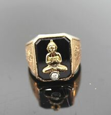 Aparter ring 585er rotgold Onyx brillante 0,08ct Buda valor 1898,- EUR