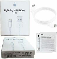 Genuine Original oem Apple Lightning to USB 1M Iphone cable charger, Lot of 2