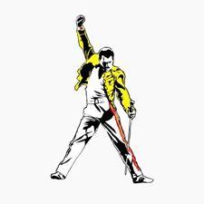 Freddie Mercury Queen Rock Music Car Bumper Locker Window Sticker Decal 9X15 cm