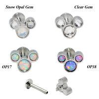 1x Opal Labret Lip Stud Ring Ear Helix Tragus Cartilage Earring Piercing Jewelry