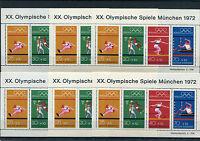 Bund Block 8 postfrisch (6 Stück) BRD 734 - 737 Olympia 1972 München Motiv Sport