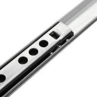 2 X Ball Bearing Drawer Slides Rail Metal 8-16 Inch Extension Side Mount