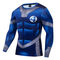 FANT4STIC Costume Cosplay Compression Tights Quick-Drying T-shirt Tops