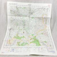 1970 Vintage Militare Mappa Di Jedburgh Scozia Roxburghshire Melrose St Boswells