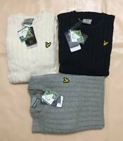 LYLE AND SCOTT LONG SLEEVE CABLE KNIT JUMPER FOR MEN