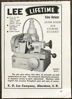 1961 KO Lee Company Aberdeen SD Print Ad Lee Lifetime Valve Refacer