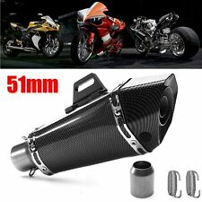 36-51mm Carbon Fiber Exhaust Muffler Tip Pipe For Motorcycle ATV Universal NEW
