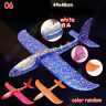 Foam Throwing Glider LED Light Inertia Aircraft Toy Hand Airplane Kids Gifts H