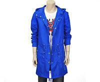 Em Polham Mens Casual Lightweight Hooded Long Zip Up Jacket Windbreaker Size L