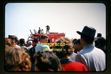 1950's Fire Truck at Air Force Air Show, Original 35mm Photo Slide a1b