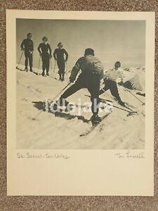 TONI FRISSELL Vintage Photo Art Print Sun Valley Idaho Ski Resort Ski School