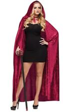 BURGUNDY VELVET HOODED CAPE **NEW IN PACKAGE SIZE: ADULT