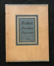 1930 BAKER FURNITURE FACTORIES DEALERS' FULL LINE CATALOG ALLEGAN MI MICHIGAN