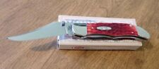 CASE XX New Assisted Opening Red Jigged Bone Mid Folding Hunter Knife/Knives
