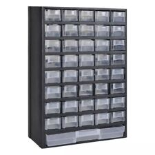 Drawer Tool Box Garage Storing Cabinet Storage Black Plastic Case Small Drawers✓
