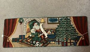 """Vintage Tapestry """"Checking it Twice"""" Table Runner--New With Tags--Beautiful"""