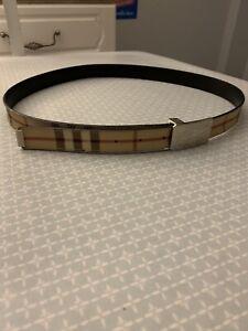 Burberry Vintage Buckle Belt 40inch
