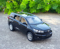 Toyota Highlander SUV 1:32 Diecast Alloy Sound&Light Pull Back Car Model Toy
