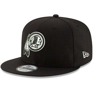 Washington Redskins New Era 9Fifty Basic Black and White Adjustable Snapback Hat